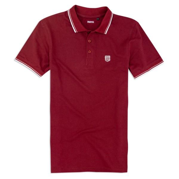 Poloshirt A183 weinrot