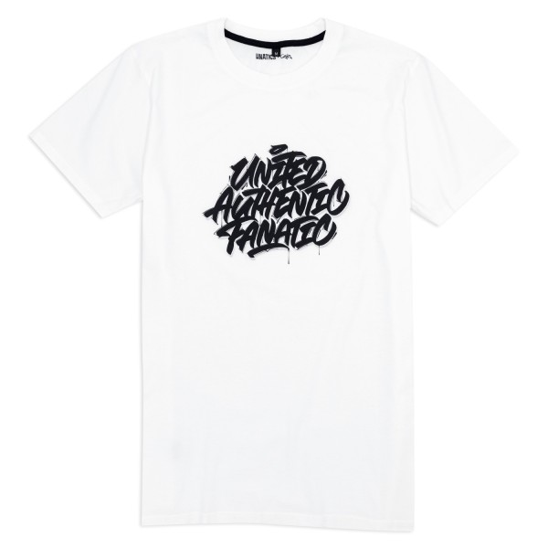 T-Shirt 'United Authentic Fanatic' white