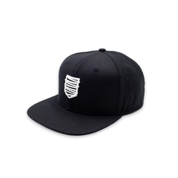Snapback Cap 18 schwarz/w