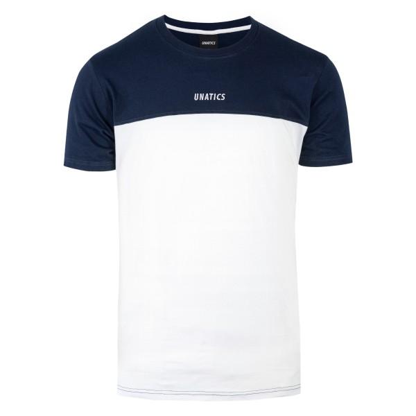 T-Shirt 'Italic' navy white
