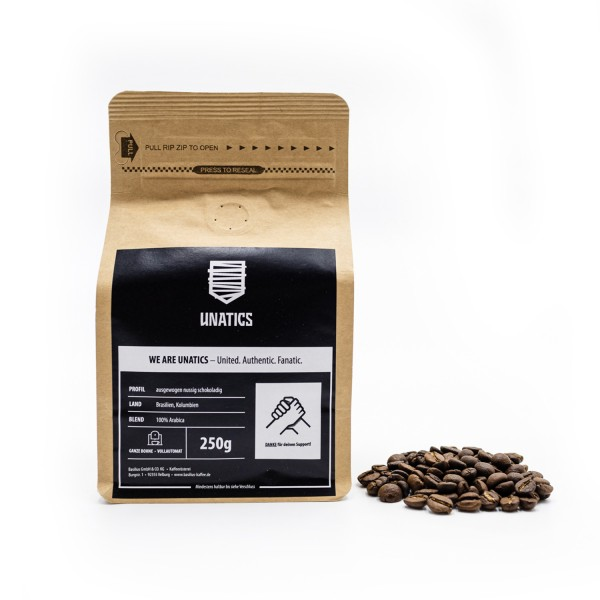Kaffeebohnen 'UNATICS X Basilius' 250g