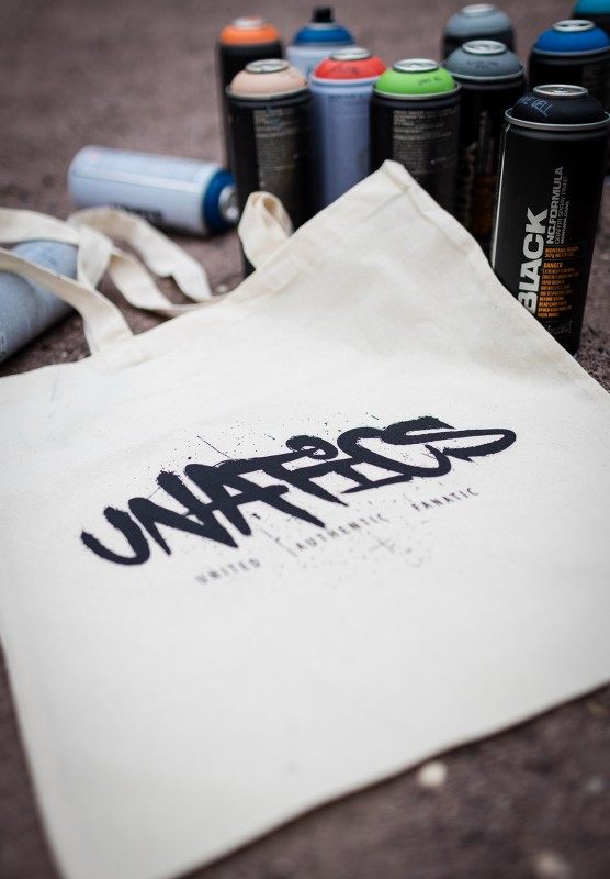 UNATICS Jutebeutel 'Graff' black