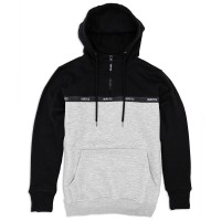Half Zip Hoodie 'Taping' black grey