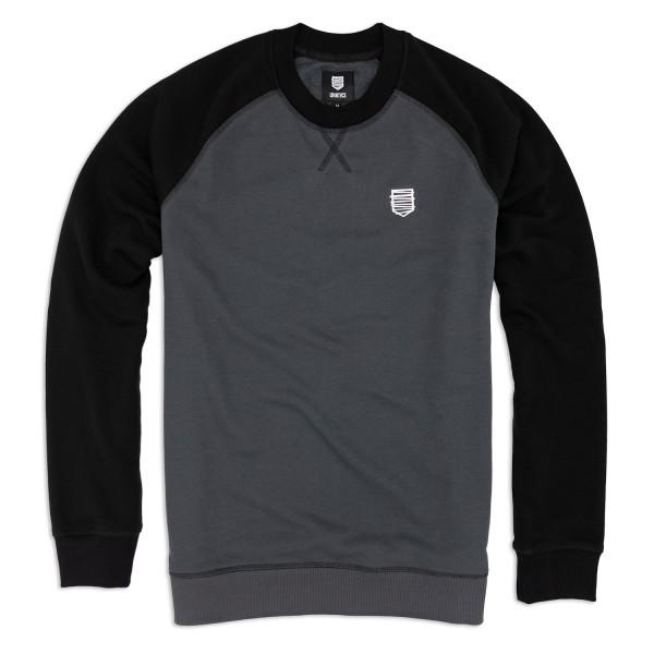 Sweatshirt A183 schwarz grau