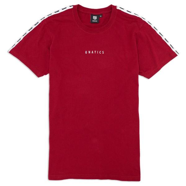 T-Shirt 'Taping Logo' wine red