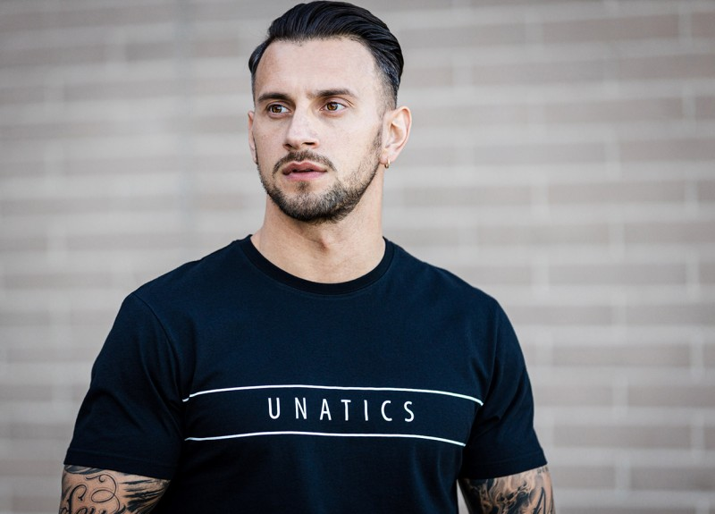 UNATICS T-Shirt 'Stripes' black