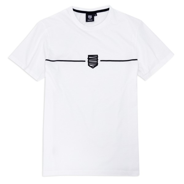 T-Shirt 'Logo stripe' white