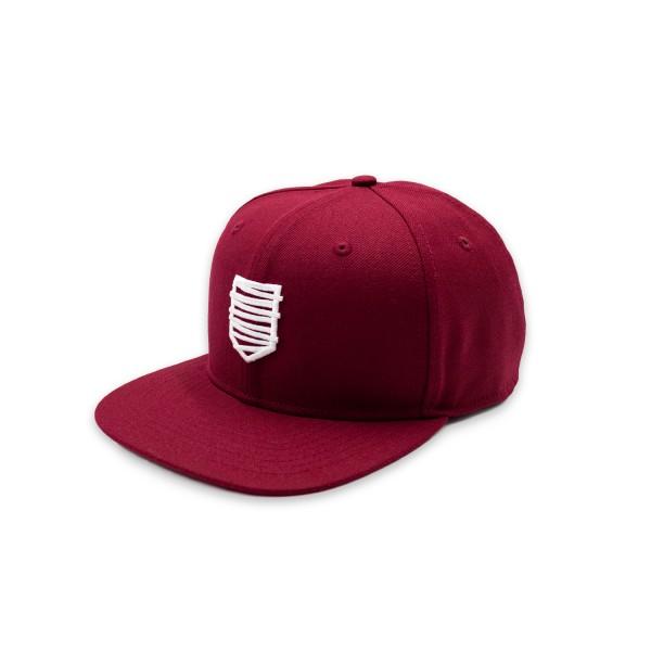 Snapback Cap 18 weinrot/w