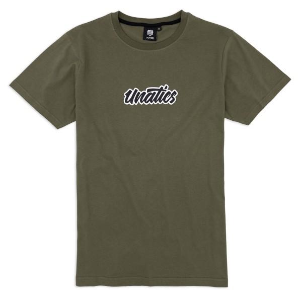 T-Shirt 'Script' khaki