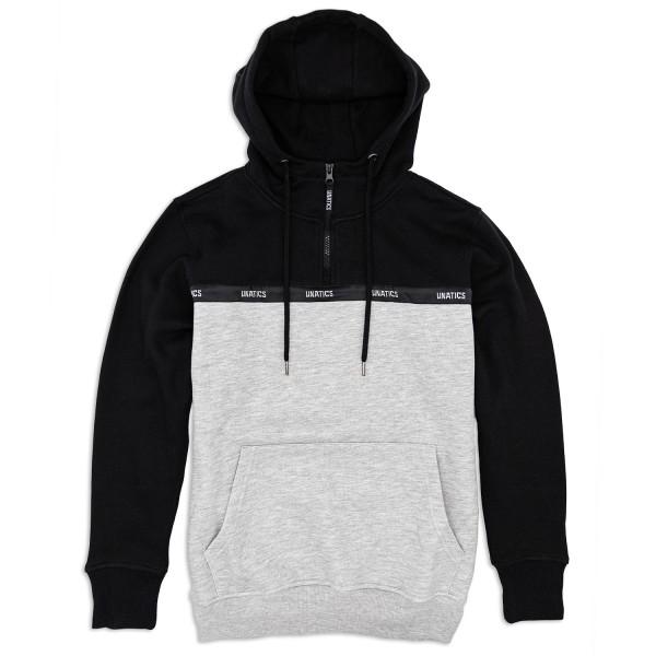 Half Zip Hoodie 'Taping' black grey